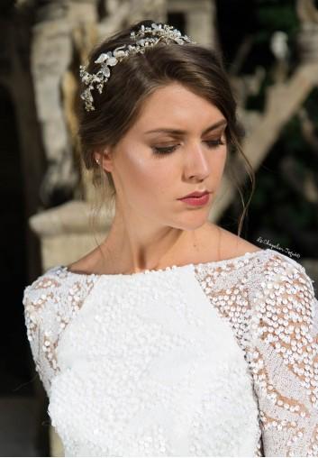 Couronne de mariée Fleurs et Perles