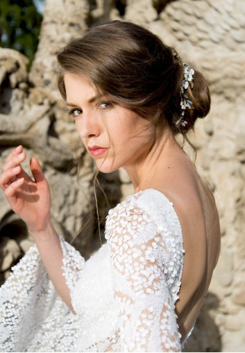 Tiare de Mariage - Fleurs Blanches et Opales