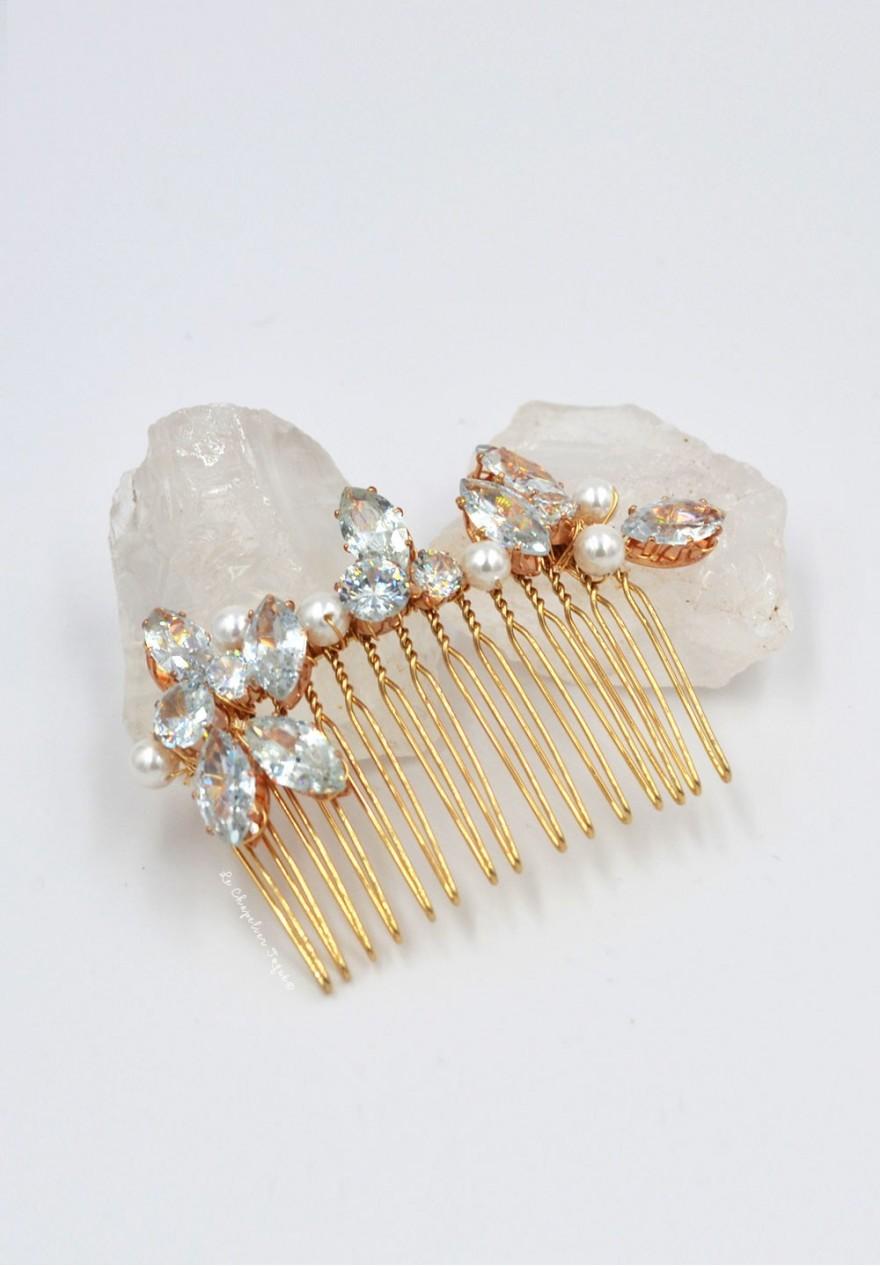 peigne cheveux mariage cristal swarovski