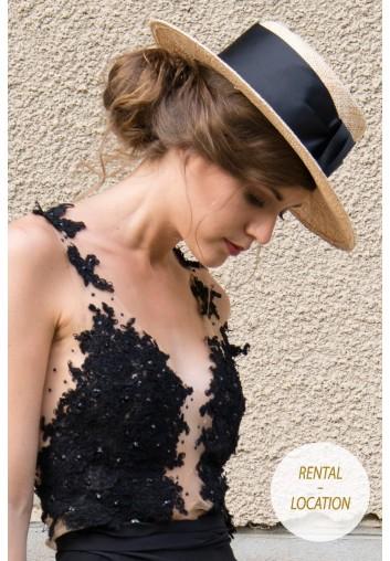 chapeau canotier en location pour femme pour mariage