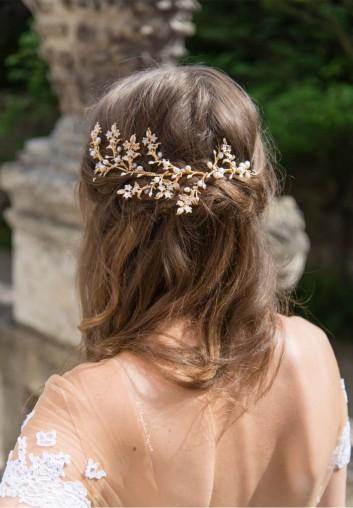 Location Peigne Cheveux Mariage en perles d'eau douce naturelles