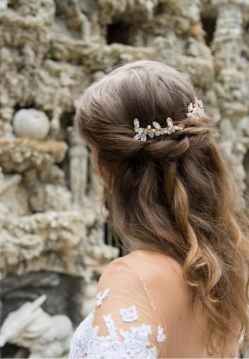 location peigne cheveux mariage en cristaux de Swarovski