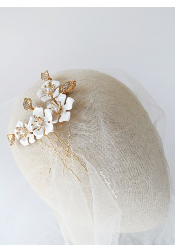 accessoire cheveux mariage fleurs blanches