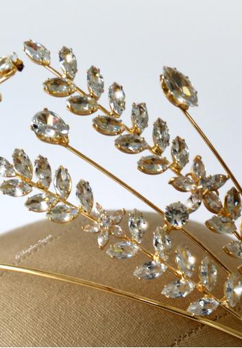 diademe mariage Swarovski cristal style antique