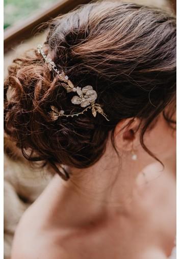 accessoire cheveux mariage vigne de cheveux en nacre