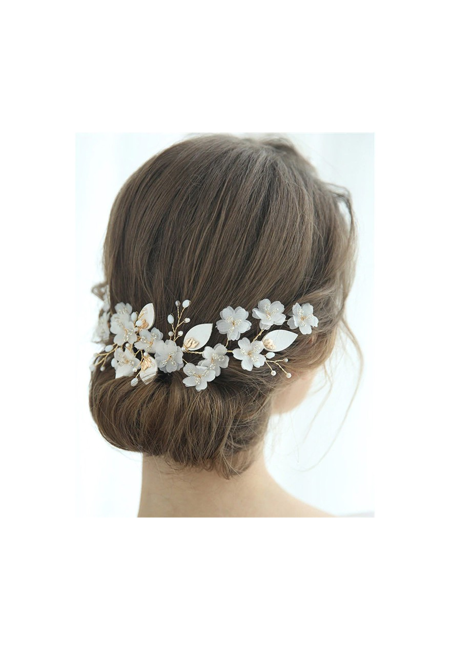 peigne cheveux mariage fleurs blanches