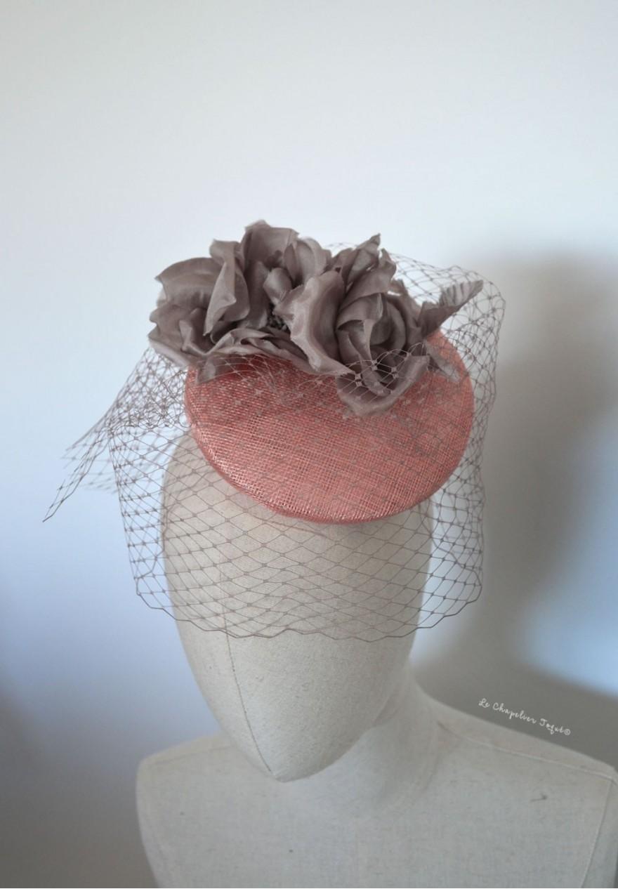 chapeau bibi mariage fleurs plumes